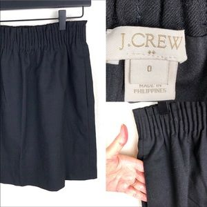 J Crew elastic waist black short skirt.